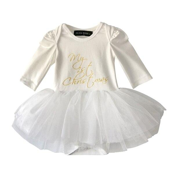 OLIVIA ROSE MY 1ST Christmas onesie tutu dress 6-12 months