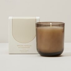 POURED GLASS CANDLE SPICED VANILLA AND CASHMERE