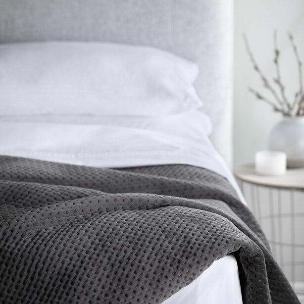 Wellness Weighted Blanket   15 Lb, Grey by Indigo