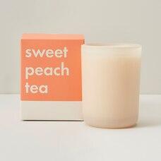 POURED GLASS CANDLE SWEET PEACH TEA