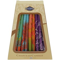 CHANUKAH  CANDLES MULTI COLORED