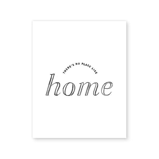 """NO PLACE LIKE HOME ART PRINT - 8"""" X 10"""""""