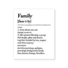 "FAMILY ART PRINT - 8"" X 10"""