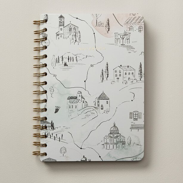 A5 SPIRAL NOTEBOOK TUSCANY MAP