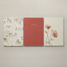SET OF 3 NOTEBOOKS SMALL TUSCANY MAP