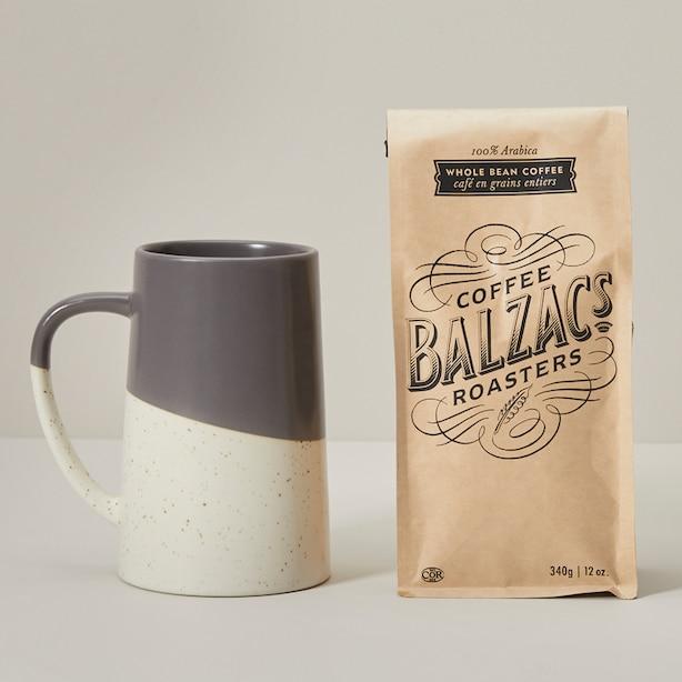 FATHER'S DAY MUG & BALZAC'S COFFEE GIFT SET STORM GREY