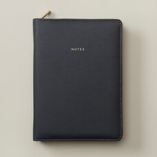 SCANDI STYLE REFILLABLE ZIP JOURNAL NAVY