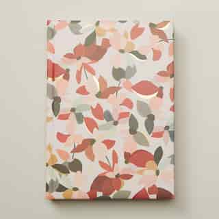EMBOSSED JOURNAL FLORAL PINK