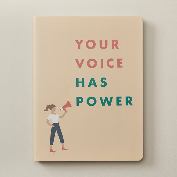 INTERNATIONAL WOMEN'S DAY LARGE ULTRA-FLEXI JOURNAL YOUR VOICE
