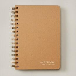 NōTA ARCHETYPE A5 PAPERBOARD 4-TAB NOTEBOOK KRAFT