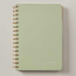 NōTA ARCHETYPE A5 PAPERBOARD 4-TAB NOTEBOOK SAGE