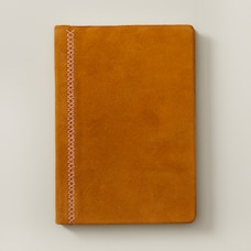 SUEDE EMBROIDERED JOURNAL, CAMEL