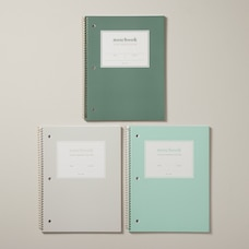 SET OF 3 SPIRAL NOTEBOOKS, NEUTRAL TONES