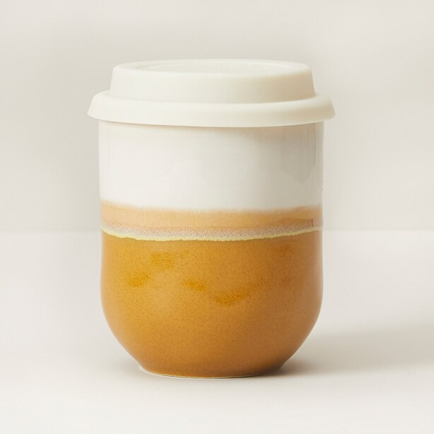 SUNSET SERIES CERAMIC ON-THE-GO CUP – GOLDEN OCHRE