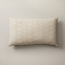 """SPUR PATTERN ALMOND PILLOW COVER 12"""" X 21"""""""