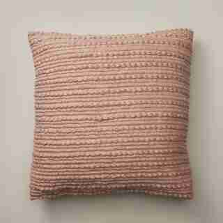 """TEXTURED STRIPES CREAM ROSE PILLOW COVER 20"""" X 20"""""""