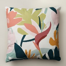 "BIRD OF PARADISE OUTDOOR PILLOW 18"" X 18"""