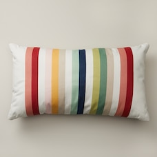 "MULTI-STRIPE OUTDOOR PILLOW 12"" X 21"""
