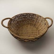 DECORATIVE SEAGRASS BOWL WITH HANDLES