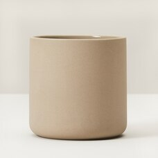 SMALL ROUNDED PLANT POT– BROWN