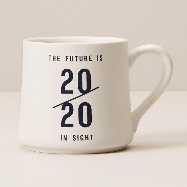 THE FUTURE IS IN SIGHT 20/20 GRAD MUG