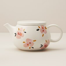 PEACH BLOSSOM CERAMIC TEA POT