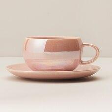 PRAIRIE ROSE LUSTER CERAMIC TEA SET