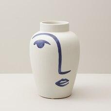 vase PEINT À LA MAIN – VISAGE, GRAND