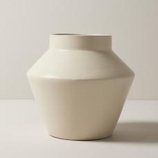 vase MODERNE EN TERRE CUITE – FINI CRÈME MAT, GRAND