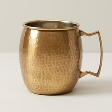 OUI HAMMERED BRASS MULE MUG