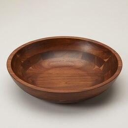 OUI SHALLOW WOOD BOWL LARGE