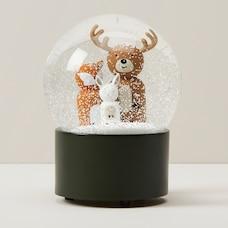 OUI WOODLAND ANIMALS HOLIDAY MUSICAL SNOWGLOBE