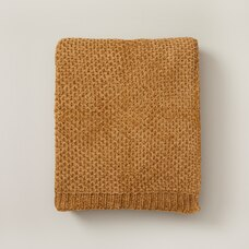 OUI HONEYCOMB CHENILLE THROW GOLDENROD