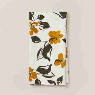 OUI LEAFY FLORAL NAPKINS SET OF 4