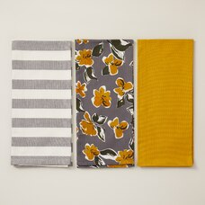 OUI TEA TOWELS MIXED GOLDEN SET OF 3