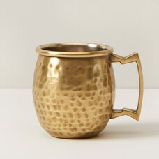 OUI HAMMERED BRASS SHOT GLASS