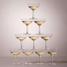 OUI CHAMPAGNE COUPE GLASS TOWER SET OF 10