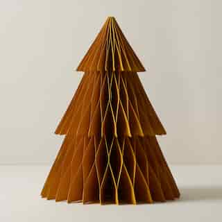 OUI SMALL MUSTARD PAPER ACCORDION TREE