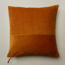 "OUI PIECED CORDUROY PILLOW COVER SIENNA 20"" X 20"""