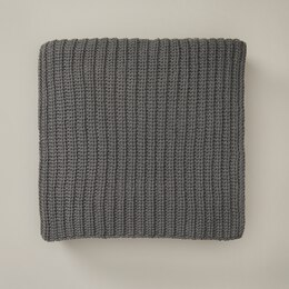 OUI RECYCLED KNIT THROW BLANKET STORM GREY