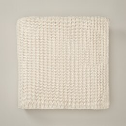 OUI RECYCLED KNIT THROW BLANKET IVORY