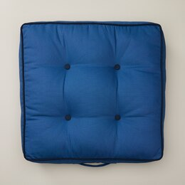 OUI INDOOR/OUTDOOR TUFTED LOUNGE PILLOW WASHED INDIGO