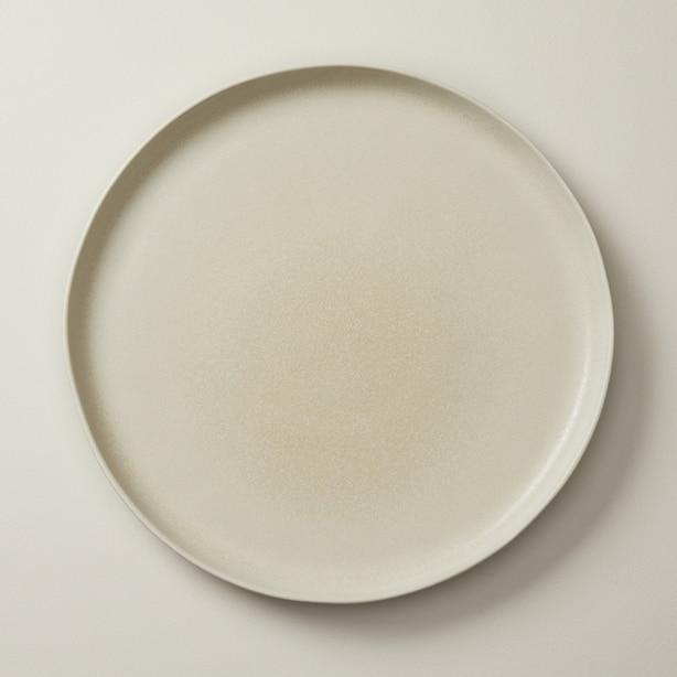 OUI ORGANIC STONEWARE DINNER PLATE IVORY