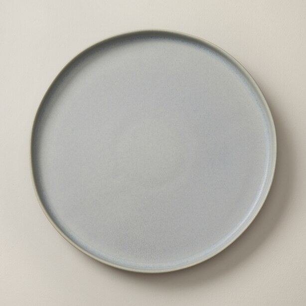 OUI ORGANIC STONEWARE DINNER PLATE LIGHT BLUE