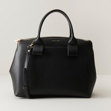 LOVE AND LORE LOOPED STRAP HANDBAG BLACK