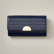 Love And Lore Spencer Clutch Wallet Dark Blue Crocodile