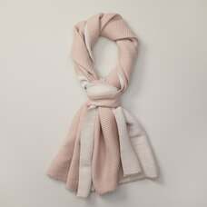 LOVE AND LORE REVERSIBLE PLEATED SCARF BLUSH & IVORY