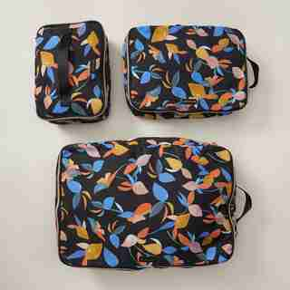 LOVE AND LORE PACKING CUBES MOOD FLORAL SET OF 3