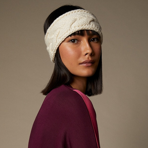 LOVE AND LORE ECO CABLE HEADBAND IVORY