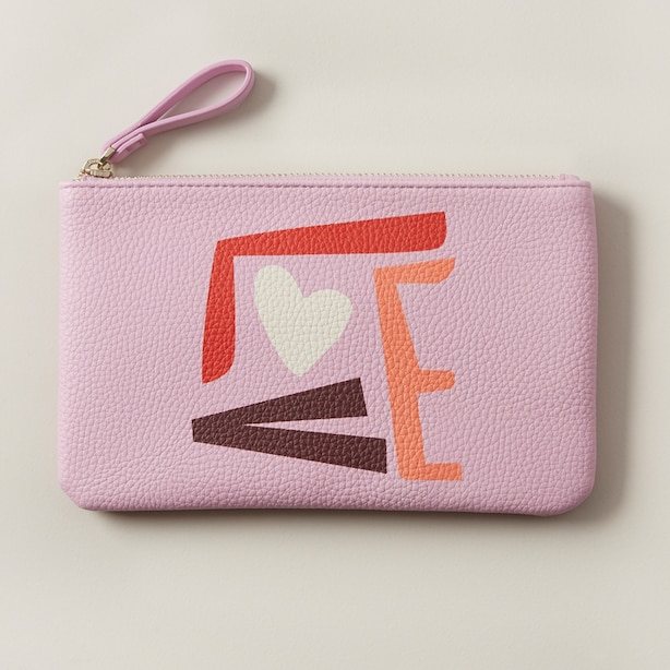 LOVE AND LORE MEDIUM POUCH LOVE LAVENDER